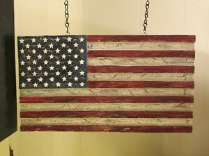 """""""USA FLAG"""" Replacement Sign - Resin Sign for Country Arrow Holders"""