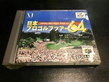 Nintendo 64 DD Japan Pro Golf Tour 64 Mint .