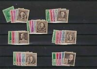 UNITED STATES FAMOUS AMERICANS 7 MOUNTED MINT STAMPS SETS   REF R 1823