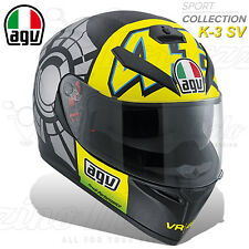 CASCO INTEGRALE MOTO AGV K3 K-3 SV PLK TOP VALENTINO ROSSI WINTER TEST 2012