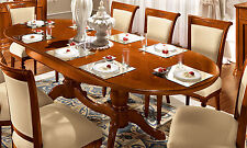 Esstisch Küchentisch Kreuzfuß Tisch Oval Ausziehbar bis240cm Nussbaum Teilmassiv