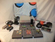 Nintendo Entertainment System Deluxe Gray Console Power Pad 5 games Bundle
