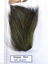 """LG  # 1 DYED MOOSE BODY HAIR { Mane } """" DR.GREEN """" Hard to Find in Fly Shop"""