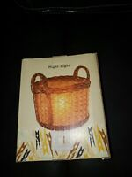 New In Box Cracker Barrel Woven Basket Night Light