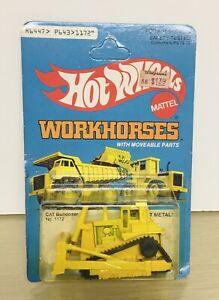 1980 Hot Wheels Workhorses -CAT Bulldozer-New MISP