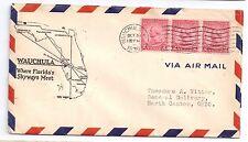 1930 Wauchula FL Airport Dedication Cover Where Florida Skyways Meet Map Cachet