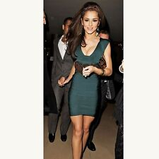 Authentic Herve Leger Fall 2008 Teal Holy Grail Zip Front Bandage Dress - $1,350