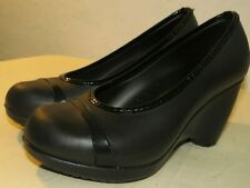 Crocs Womens Shoes Black Wedge High Heels Lena Size 8