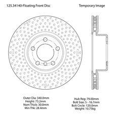 Centric Parts 125.34140 Front Premium Brake Rotor