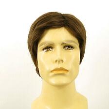 Perruque homme 100% cheveux naturel châtain clair ref THIERRY 8