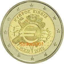 2 EURO COMMEMORATIVO CIPRO 2012 10° Anniversario