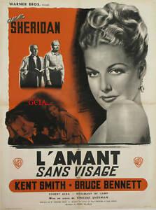 L'AMANT SANS VISAGE - A.SHERIDAN -V.SHERMAN - 1947 -WB