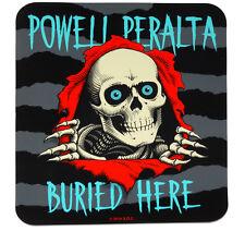POWELL PERALTA Ripper Buried Here Sticker. skateboard dealer double sided window
