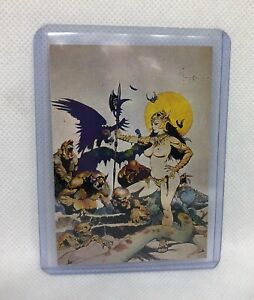 GHOUL QUEEN by Frank Frazetta 1991 Limited Edition Art Card MINT Condition RARE