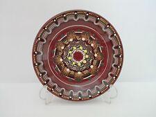 Plato decorativo de ceramica esmaltada pintada a mano 22cm Decoracion Psicodelic