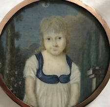 portrait miniature vers 1795 médaillon en or massif ( Russe ? )