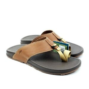 Chaco Playa Pro Loop Sandal Cognac Mens Thong Flip Flop Leather US 11 UK 10