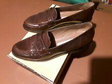 """Vintage """"Oval Room"""" Snake Skin-Italy """"Brown Penny Loafers"""" Dayton-Hudson 8M"""