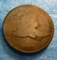 1857    Flying Eagle  Cent  Coin  #FE57-2