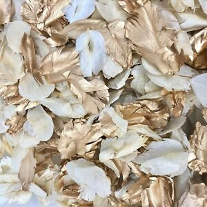 ROSE GOLD, GOLD + Ivory Dried Biodegradable Wedding Confetti Real Flower Petals