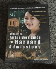 getting in : AN INSIDERS GUIDE TO HARVARD ADMISSIONS    DVD  New!