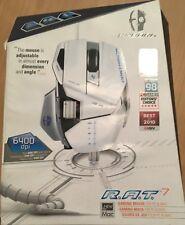 Mad Catz Cyborg R.A.T. 7 (CCB4370800B2/04/1) Maus  WEISS  6400dpi  Defekt