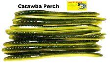 """20 Pcs 6.25"""" Drop Shot Finesse Trick Worm Senko Style Straight Tail Bass Fishing"""