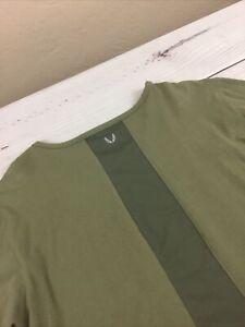 ASRV Aesthetic Revolution Long Sleeve Pullover Shirt Tee Men's Size Large Green