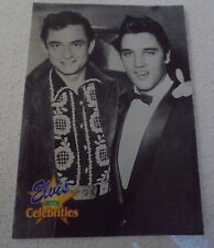 # 307 Elvis with Celebrities - 1992 The River Group Trading Card Johnny Cash