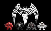 4 Set Marvel Venom Superheroes BIG Minifigures
