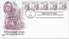US Scott #2256, First Day Cover 8/12/88 Tucson Plate #1 Coil Wheelchair
