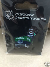 Vancouver Canucks Team Mascot Fin on Zamboni Hockey Pin - NHL Licensed