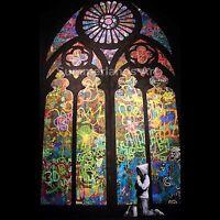Banksy - Graffiti Mr Brainwash Shepard Fairey FINE ART PRINT Giclee Rare 50x50cm