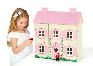 Wooden Dolls House Toy  With Accessories