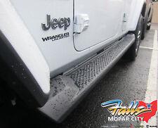 2018 Jeep Wrangler Unlimited JL Black Molded 4 Door Running Board Side Steps OEM