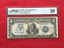 """FR-278 1899 Series $5 Dollar Silver Certificate """"Chief"""" *PMG 20 Very Fine*"""