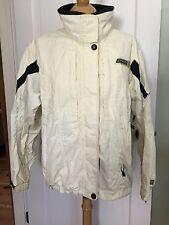 SPYDER Women's Winter Shell Ski Jacket Size 12 Ivory And Black