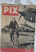 PIX MAGAZINE 1944 MAY 6,AUSTRALIAN SPITFIRE AIR ACES,WORLD WAR 2,NEW GUINEA