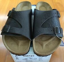 Birkenstock Zurich 050121 Size 41 L10M8 R Brown Leather Sandals