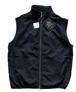 NWT TURTLESON Men's Large Black Sleeveless Full Zip Golf Vest Teflon Repel
