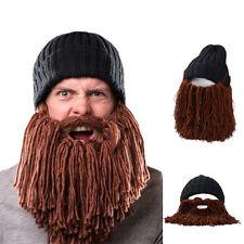Men's Funny Knit Cap Funny Hand Knit Woolen Hat Cosply Rasta Cap Black + Brown