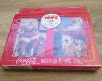 Coca Cola Santa Nostalgia 1995 Coke 2 Deck Playing Cards and Tin