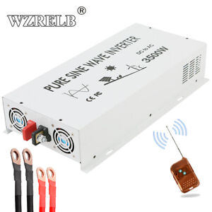 3500W Pure Sine Wave Inverter 24V to 110V 120V Car Power Remote Control Wireless