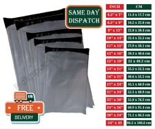 More details for strong grey plastic mailing bags poly postage post postal self seal - all sizes
