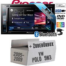 Pioneer Radio für VW Polo 9N3 DAB+ DVD USB Bluetooth Auto-Einbauset Multimedia
