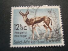 SOUTH AFRICA 1961 12 1/2c BROWN & BLUISH-GREEN  SG 194 FINE USED