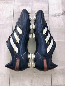 ADIDAS PREDATOR X CHAMPIONS LEAGUE FOOTBALL BOOTS BLUE LEATHER US9 1/2 UK9 RARE