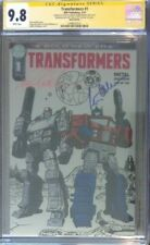Transformers #1 Metal variant__CGC 9.8 SS__Signed by Peter Cullen & Frank Welker