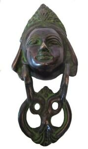 ANTIQUE Style Brass DOOR KNOCKER - QUEEN Style - Fully Brass - BLACK (5241)