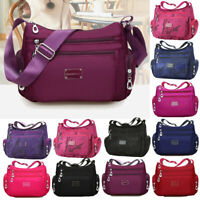 Women's Tote Messenger Cross Body Handbag Ladies Canvas Shoulder Bag Waterproof